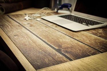 Schreibtischunterlage - Holzoptik