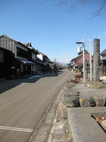 白鳥神社からの海野宿