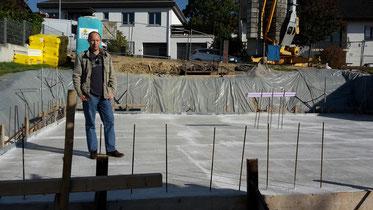 Mark Lanvall auf der Baustelle