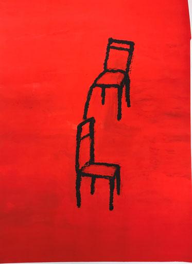 Stühle von S. H., Kunstwerkstatt an der Lorze, Verein Kubeis