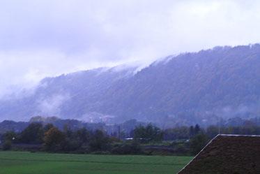 Der Blick aus dem Hotelfenster in Kärnten