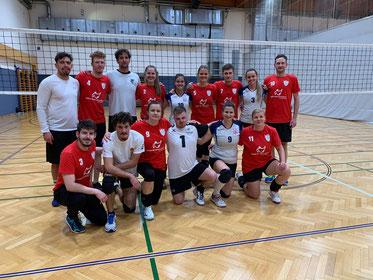 Freundschaftliche Mixedmannschaft aus Ungarn