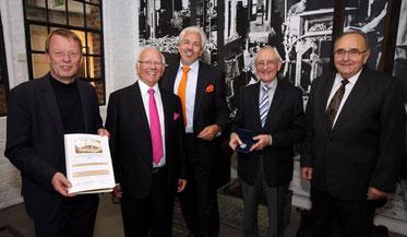 Oberbürgermeister Burkhard Mast-Weisz, Ernst Blissenbach, Arndt Blissenbach, Prof. Dr. Horst A. Wessel, Karl Rudolf Gerhards