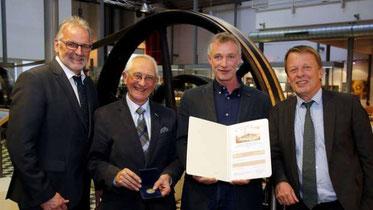 Bürgermeister Rainer Bleek (Wermelskirchen), Prof. Dr. Horst A. Wessel, Klaus Stöcker, Oberbürgermeister Burkhard Mast-Weisz (Remscheid)