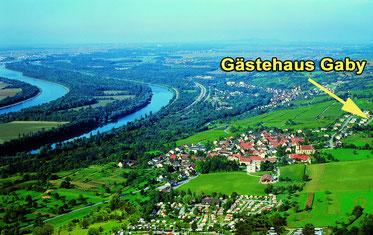 Links Frankreich, der Rhein - und Bad Bellingen (klick zum Vergrössern)