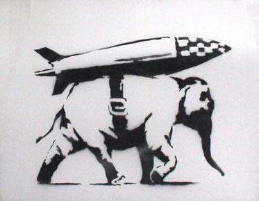 Banksy_Heavy Weapon/Galerie Kronsbein