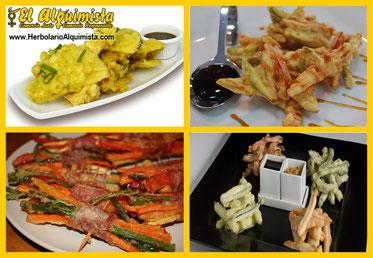 Verduras en tempura - Cocina Japonesa - Herbolario el Alquimista Arrecife Lanzarote