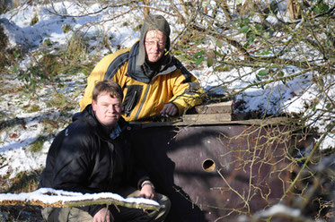 Bau einer Eisvogelbrutwand Eisvogel Naturschutzberater NABU Düren
