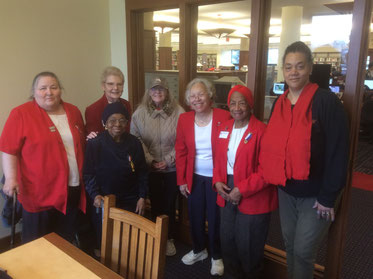 Christie Peach, Celestine Hollings, Nancy Skerchock, Patricia Werner,  Peggy Williams, Maggie Farris, and Jocelyn Bush
