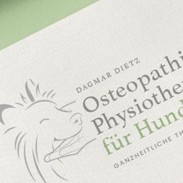 Physiotherapie und Osteopathie für Hunde, Logodesign