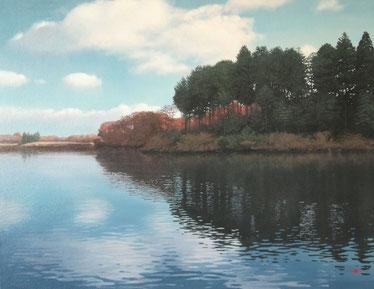 「雲の行方」油彩 P10