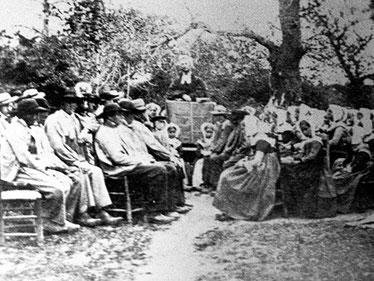 Une assemblée secrète dans le Poitou