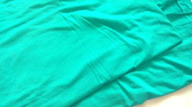Stoffnummer BA09 dünner weicher elastischer Bambusjersey, Ökologisch, Farbe= Türkis
