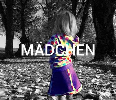 Shop für Kindermode, Link auf Übersicht Artikel Mädchen, Hoodies, Winterröcke, Jogginghosen und Pumphosen