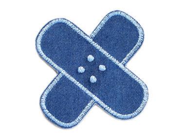 Bild: Flicken Hosenpflaster Jeans Hosenflicken zum aufbügeln hellblau