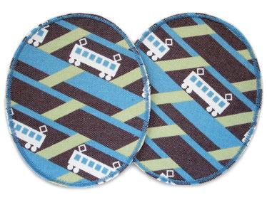 Bild: Flicken zum aufbügeln für Kinder mit Motiv Eisenbahn, 2 Bügelflicken im Set