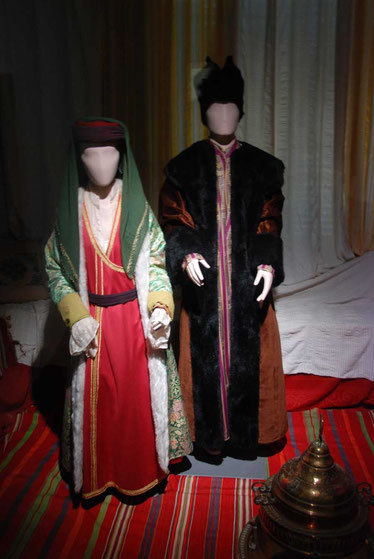 Manakins dressed in the Ottoman style, Leventis Municipal Museum, Nicosia