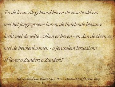 Uit een brief van Vincent aan Theo, Dordrecht 8 februari 1877