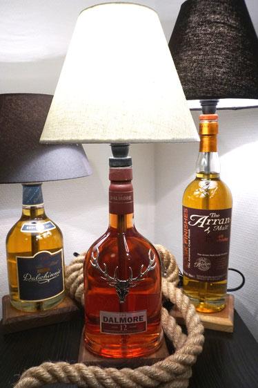 Whiskylampe, Flaschenlampe, Leuchten, Geschenkidee