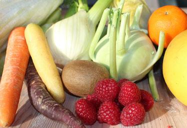 Gemüse Rüben Kiwi Fenchel Orange