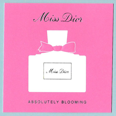 MISS DIOR - CARTE ROSE POUR ABSOLUTELY BLOOMING