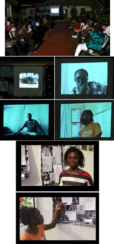 A visual arts artist talk presentations on photography and drawing.