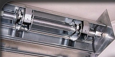 Réparation d'axe de rideau et grille métallique