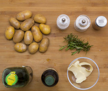 Roast Potatoes Kartoffeln aus dem Ofen knusprig Rezept selber machen