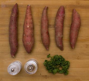 Süssbratkartoffeln Bratsüsskartoffeln Süsskartoffeln Rezept Zubereitung selber machen