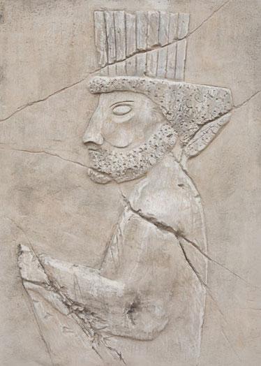 Persischer Krieger, modelliert und bemalt