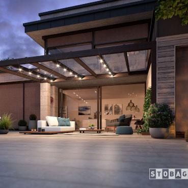 Terrassendächer erweitern den sommerlichen Wohnraum