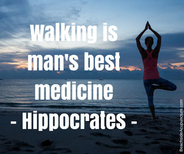 yoga beach hippocrates quote walking is man's best medicine