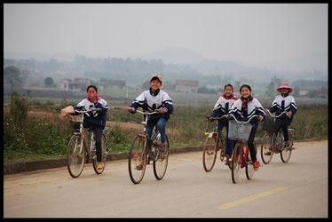 Carte du voyage à vélo au viêtnam, laetitia, entreicietla, bike touring
