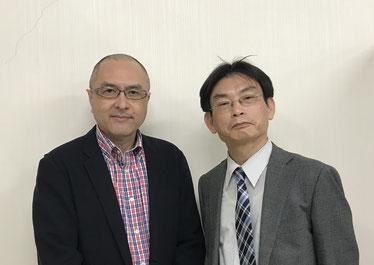 吉川和徳さん(左)と上坂浩史
