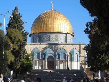 """Muslimischer """"Felsendom"""" auf dem Tempelberg von Jerusalem"""