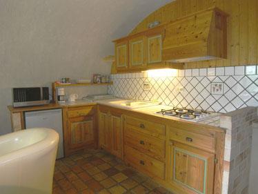 keuken vakantiehuis Vignoble Aurel Drôme