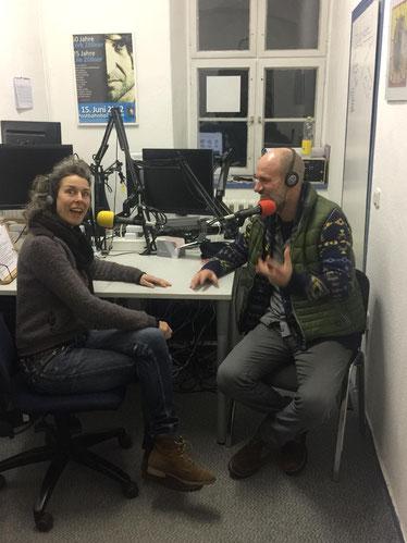 Jan Oechsner bei Radio Slubfurt in Frankfurt/Oder zu Kurzfilm Die Treppe