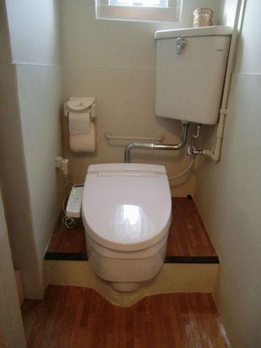 工事後洋式シャワートイレ