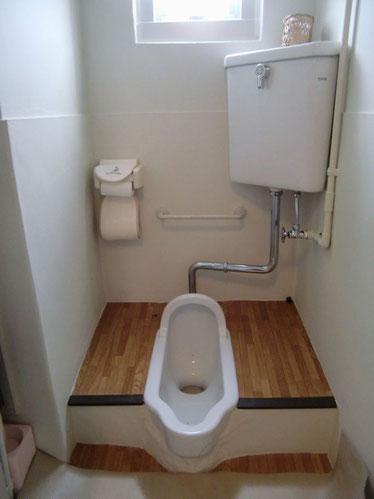 工事前和式トイレ
