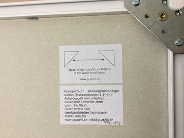 Bild einrahmen - Alurahmen mit Bildaufhänger ergänzt