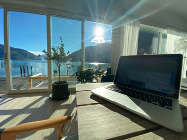 My view when I am writing my articles and translations here in Norway