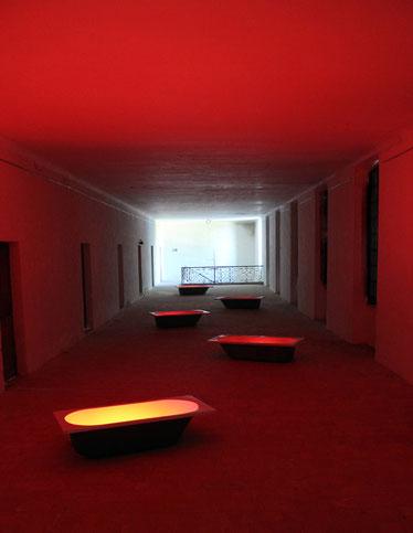 Bains de sang, abbaye de Vertheuil, 2013