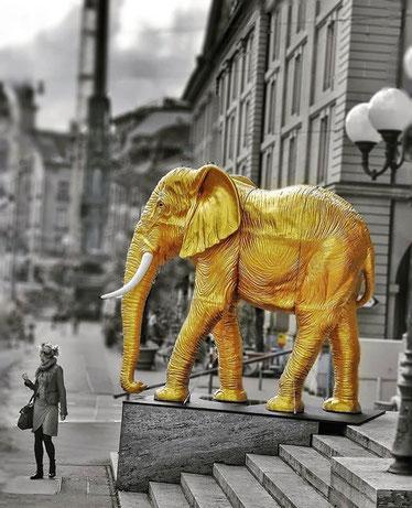 Goldener Elefant by _bernstagram_Fotograf: @markpberne