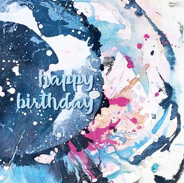 Moderne und spezielle Geburtstagskarte für Mitarbeiter oder Firmenkunden
