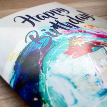 Geburtstagskarte aus dem Aargau