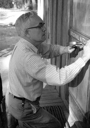 Frank Eaton working on the Meher Center, Myrtle Beach, SC. - Photo by Chris Barker