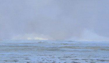 """Martin Guido Becker, """"Eismeer"""", 2007, Öl/Lwd, 70/130 cm"""
