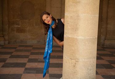 fanfaron foulard en soie, carré en soie, twill de soie, foulard made in france, Paris, créatrice, Marguerite d'Amat