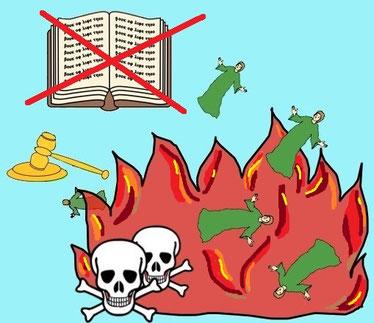 Ceux qui se livrent à des pratiques abominables et au mensonge n'auront pas leur nom inscrit dans le Livre de vie et n'entreront pas dans la Ville sainte. Ils seront symboliquement jetés dans l'étang de feu qui illustre la seconde mort.