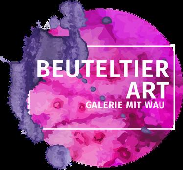 Nachher: Mein neues Logo mit pinken Farbklecks und Galerie mit Wau
